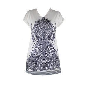 Cute Short Black And White Mini Dress Bohemian